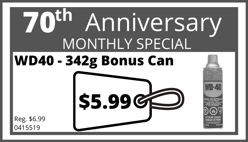 May Monthly Special